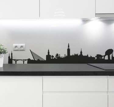 Sticker skyline silhouette Séville