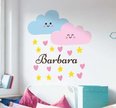 Barn personlig regn skyer veggdekal