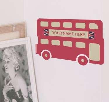 Personlig london buss klistermärke