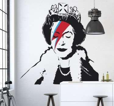 Vinilo decorativo Banksy Queen Elisabeth