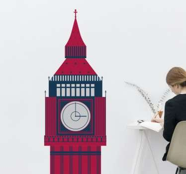 Beautiful illustration of the clock tower, otherwise known as Big Ben that is situated in the Palace of Westminster in London.