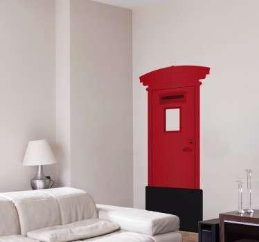 Londoner Briefkasten Wandtattoo