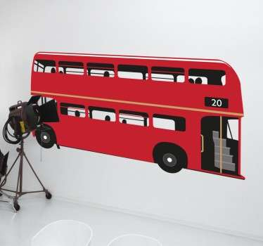 From our collection of London themed stickers, a great design of an iconic red double-decker bus.