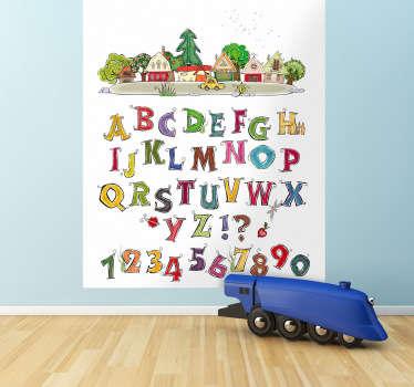 Little Town Alphabet Sticker