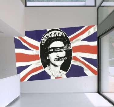 Adesivo Sex Pistols Regina Elisabetta