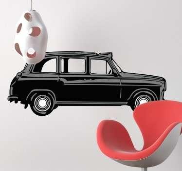 sticker dessin taxi Londonien