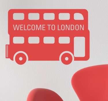 Welkom tot Londen Muursticker
