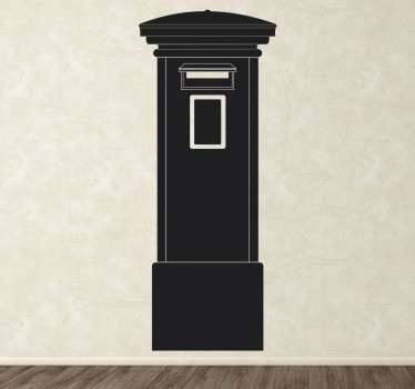Einfarbiger Londoner Briefkasten Aufkleber