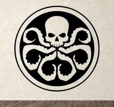 Adhesivo decorativo de Hydra. Una pegatina para los aficionados de Marvel y los superhéroes.
