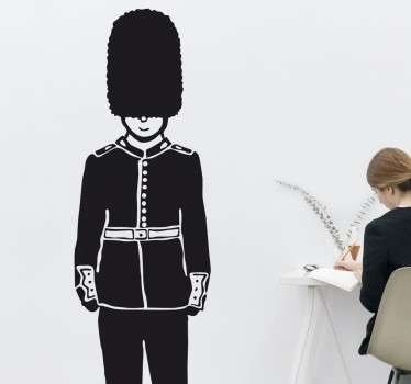 Mono-Colour Queen's Guard Wall Sticker