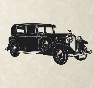 A sticker with a design of a beautiful and elegant Rolls Royce car. Decorate your home with classic luxury car that is made in Britain.