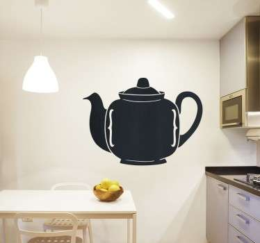 çaydanlık siluet duvar sticker
