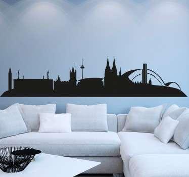 Wandtattoo Skyline Köln