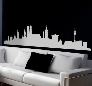 Munich Skyline Decorative Wall Mural