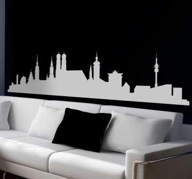 Sticker mural skyline de Munich