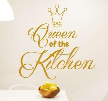 Wandtattoo Queen of the Kitchen
