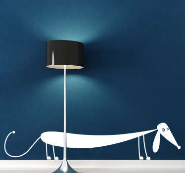 Sausage dog wall sticker from our collection of pets wall stickers available in a wide range of colours and sizes, perfect for decorating your living room, dining room or bedroom.