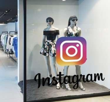 Pegatina decorativa logo instagram