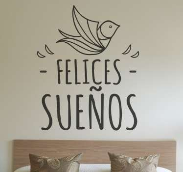 Sticker decorativo felices sueños