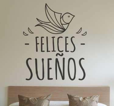 Sticker decorativo felices sueños