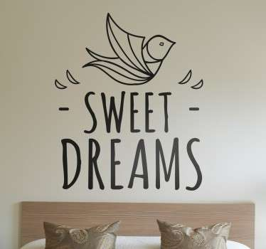 A sweet dreams wall sticker that is ideal for decorating you bedroom.