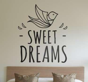 Vinilo decorativo dulces sueños