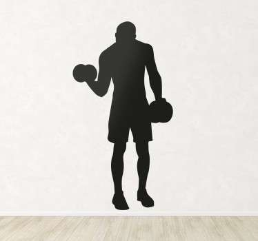 Weight Lifting Wall Sticker