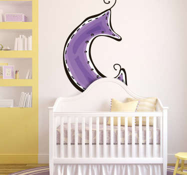Decorative sticker of the letter C. Does your child´s name start with C?  A brilliant decal from our collection of purple wall stickers.