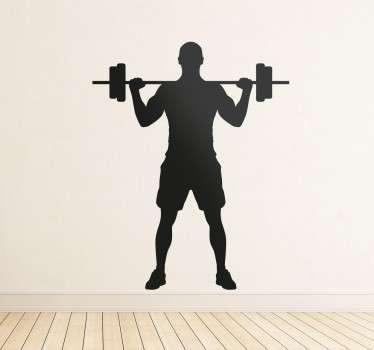 Vinilos gimnasio levantamiento de pesas