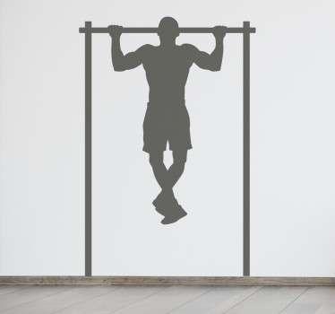 Muursticker Fitness Optrekken