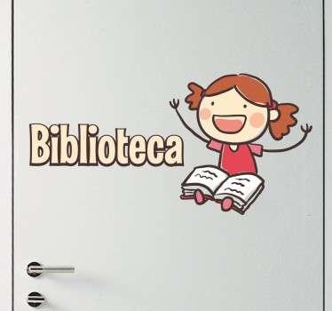 Adesivo biblioteca per scuole