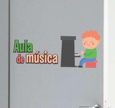 sticker classe musique