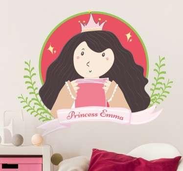 Adesivo personalizzabile principessa