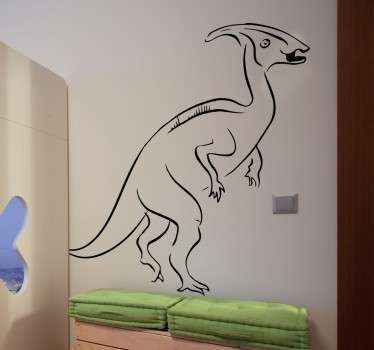 From our collection of dinosaur wall stickers, a great design of a Velociraptor to decorate your home or business.