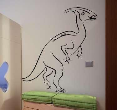 Adesivo decorativo velociraptor