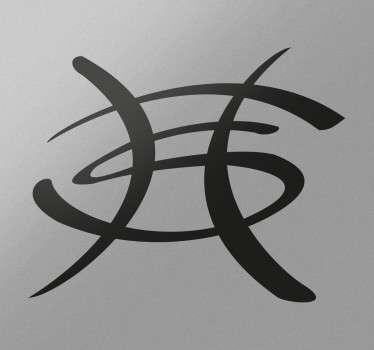 Adesivo decorativo H