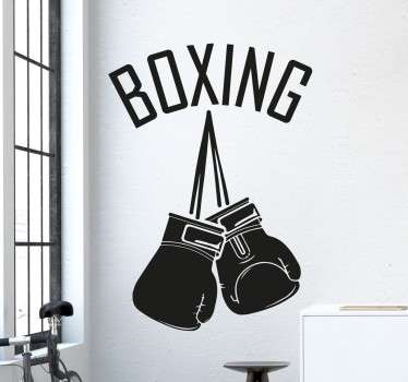 Boxing wall stickers - If you are a fan of boxing, this boxing gloves decal is a must for you. A sports sticker that is perfect for a boxing gym.