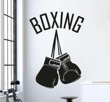 Muursticker Boxing Bokshandschoenen