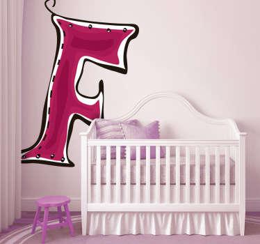 Sticker enfant dessin lettre f