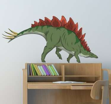 Go back in time to a prehistoric age with this sticker with a great design of a Stegosaurus, from our collection of dinosaur wall stickers.