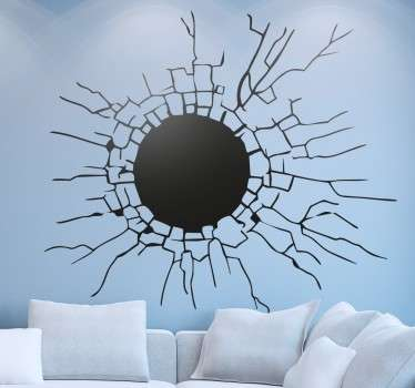 A sticker to create a fun effect on the walls of your home. Trick your family and friends into thinking that there is a giant hole in your room!