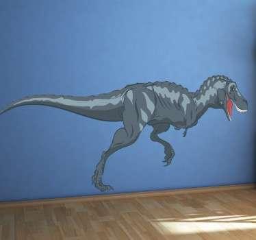 Muursticker Rennende Dinosaurus