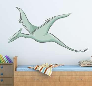 sticker dinosaure volant Ptérodactyle applicable sur toutes surfaces et personnalisable.