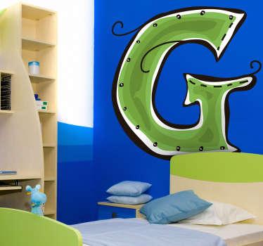 Sticker enfant dessin lettre g