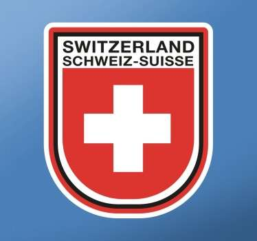 Pegatina escudo de Switzerland