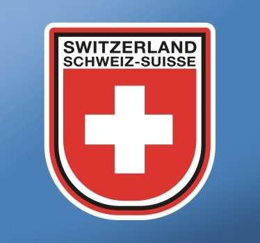 Vinil decorativo emblema Switzerland, Suíça