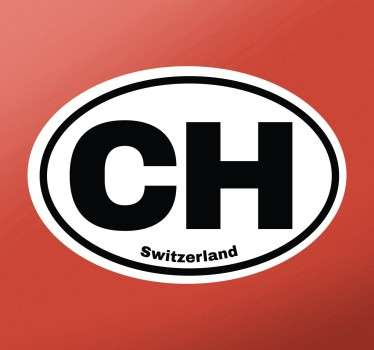 Aufkleber Schweiz CH