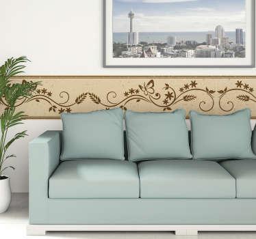 Autocolante para parede borboletas floral