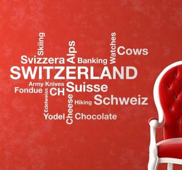 Adesivo parole Svizzera
