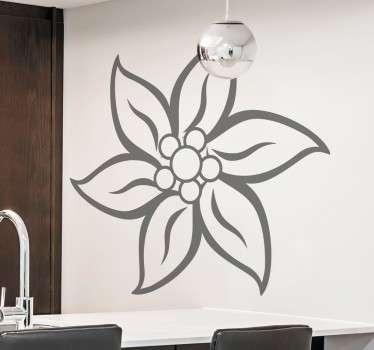 Adesivo decorativo stella alpina